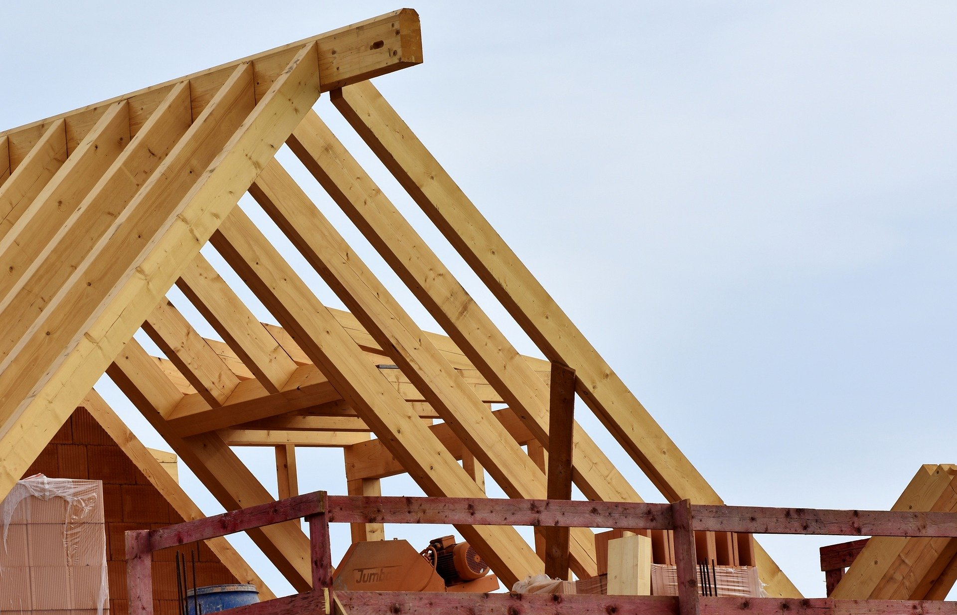Foto houten dakconstructie