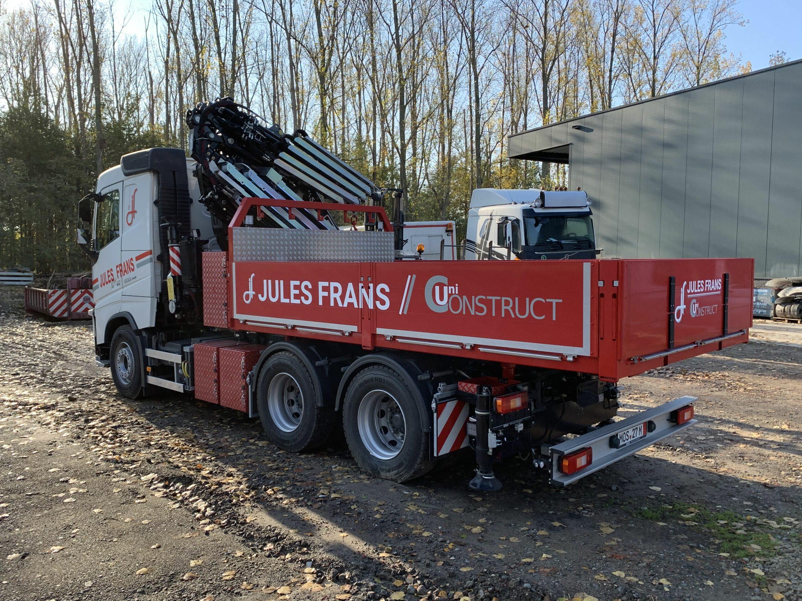 Foto vrachtwagen met kraan Jules Frans