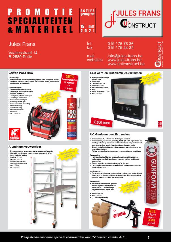foto promoties specialiteiten & materieel
